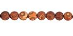 Tibetan (Dzi) Agate (rust) Matte Round 6mm