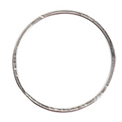Nunn Design Sterling Silver (plated) Grande Flat Circle 50mm