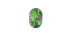 Grace Lampwork Greener Treasures Rondelle 8x14mm