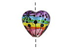 Grace Lampwork Rainbow Balloons Heart 18-20mm