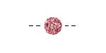 Light Rose Pave (w/ Preciosa Crystals) Round 8mm