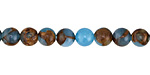 Sea Blue Opal w/ Bronzite Marbled Quartz Round 6mm