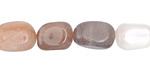 Moonstone (multi) Tumbled Nugget 10-14x8-11mm