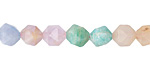 Multi Gemstone (Aquamarine, Amethyst, Amazonite, Morganite, Moonstone) Star Cut Round 8mm