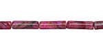 Ruby Crazy Lace Agate Tube 13x4mm