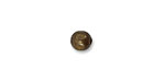 Vintaj Natural Brass Large Hole Round 6.3mm