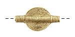 African Brass Disc 27-33x17-20mm