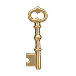 Brass Skeleton Key 42x13mm