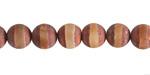 Tibetan (Dzi) Agate Matte Rust Banded Round 8mm