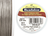 "Beadalon Bright .024"" 19 Strand Wire 30ft."