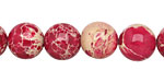 Ruby Impression Jasper Round 12mm