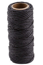 Black Hemp Twine 20 lb, 45 ft
