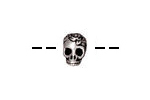TierraCast Antique Silver (plated) Large Hole Skull Bead 7x10mm