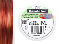 "Beadalon Pink .018"" 7 Strand Wire 30ft."