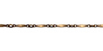 Antique Brass (plated) Flattened Bar Chain