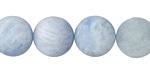 Aquamarine (matte) Round 14mm