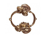 Vintaj Natural Brass Waterlily Base 57x55mm
