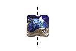 Grace Lampwork Cobalt Celestial Pillow 15mm