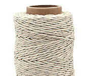 Metallic Silver Hemp Twine 20 lb, 205 ft