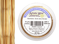 Artistic Wire Silver Plated Gold 22 gauge, 10 yards