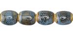 Alice Blue w/ Speckles Porcelain Barrel 12x10mm