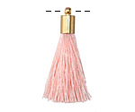 Blush Thread Tassel w/ Gold (plated) Tassel Cap 30mm
