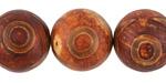 Tibetan (Dzi) Agate Matte Round 18-20mm