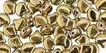 Polished Brass Matubo Ginkgo Leaf 7.5mm Seed Bead