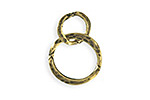 Vintaj Antique Brass (plated) Linked Hammered Rings 17x24mm
