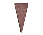 Lillypilly Burgundy Leather Triangle Tag 17x36mm