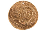 Green Girl Bronze Left-Facing Floating Mermaid Coin 33mm