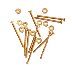 Nunn Design Brass Micro Screw & Nut Set