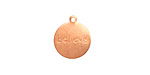 "Copper ""Believe"" Round Charm 13x15mm"