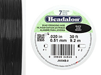 "Beadalon Black .020"" 7 Strand Wire 30ft."