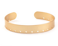 Satin Gold Finish Stitchable Cuff Bracelet 60x10mm