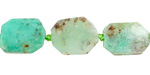 Chrysoprase Nugget Slice 12-17x10-12mm