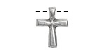 Greek Pewter Cross 15x20mm