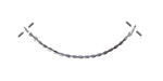 Sterling Silver Scalloped Arch Focal Link 35x10mm