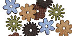 Lillypilly LBA Leather Mini Assorted Flowers 12mm
