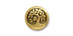 TierraCast Antique Gold (plated) Bird In A Tree Button 16mm