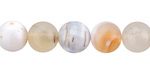 Natural Agate (light) Round 8mm