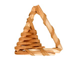 Natural Rattan-Style Woven Triangle Focal 29-35x33-37mm