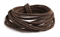Dark Brown Vintage Leather Cord 2mm
