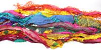 Eyelash 100% Silk Sari Ribbon