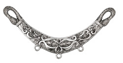 Antique Silver (plated) Serpentine Focal Link 125x60mm