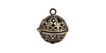 Antique Brass (plated) Regal Diffuser Locket 17x18mm