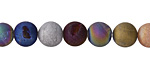 Metallic Luster Mix (matte) Druzy Round 8mm