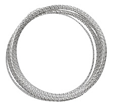 Parawire Non-Tarnish Silver Twisted 21 Gauge, 15 Feet