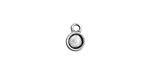 Nunn Design Antique Silver (plated) Itsy Circle Bezel Pendant 7x10mm