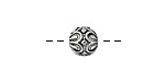Zola Elements Antique Silver (plated) Daisy Capped Round 9mm
